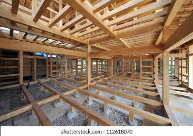 New residential construction home framing Japanese style-1-2