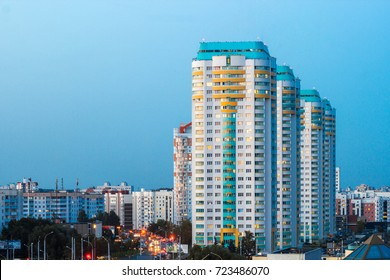 New residential high-rise buildings in russia