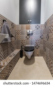New restroom with toilet and washbasin