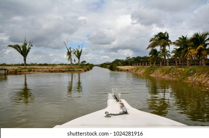 New River Boat ride to Mayan Temples in Lamanai, Belize.