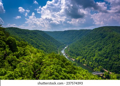 The New River Gorge  seen from the Canyon Rim Visitor Center Overlook, West Virginia.