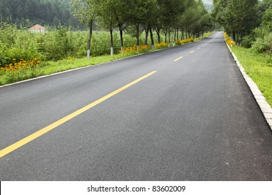 new road in the northeast of china