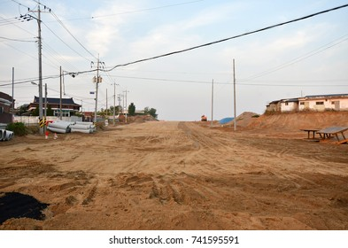 A new road under construction