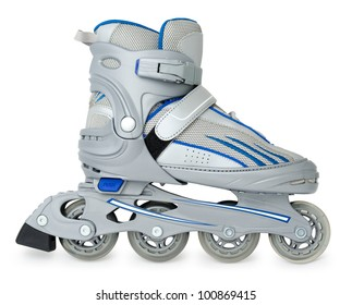 a new roller skate over white background
