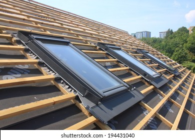 New roof coverings but without the skylights -  roof windows