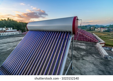 New rural areas on the roof of solar water heaters and tanks, new energy