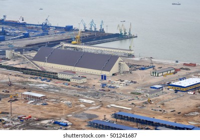 new Russian cargo port of Ust-Luga on the Baltic Sea