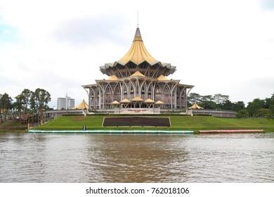New Sarawak State Legislative Assembly Building, Malaysia Kuching Waterfront, 19 November 2017