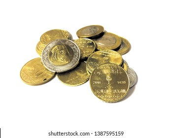 New Saudi Arabia riyal and halalah coins
