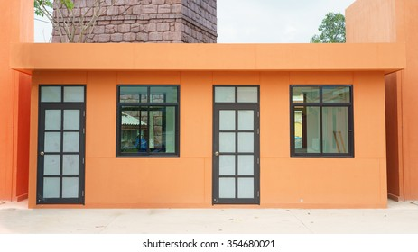 New shop store with brick.