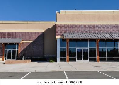 New Shopping Center made of Brick Facade