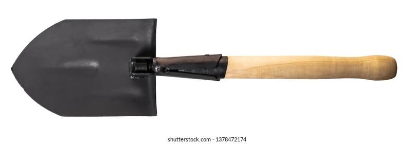 new shovel close-up isolated on a white background