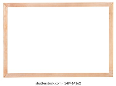 new simple narrow picture frame with cutout canvas isolated on white background