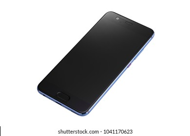 New single mobile phone, smart phone isolated on a white background with clipping path.