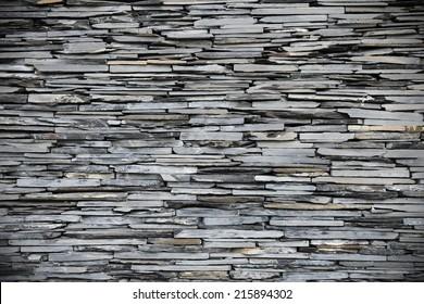 New Slate Stone Wall Background with Plenty of Copy Space
