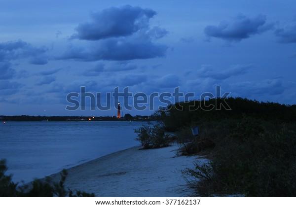 New Smyrna Dunes Park Inlet and Ponce de Leon Lighthouse