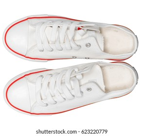 new sneakers on white background