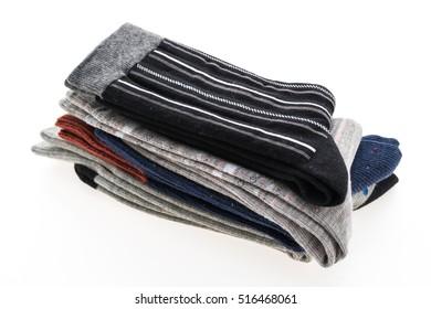 New socks isolated on white background