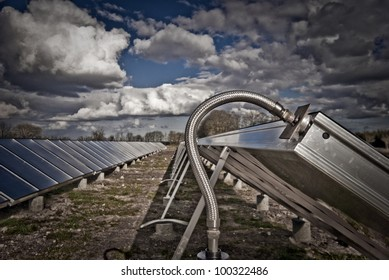 New solar heating plant in Denmark producing hot water for power and house heating