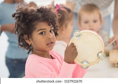 New sounds. Children in preschool.