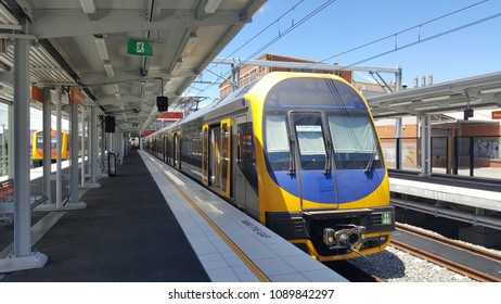 "New South Wales, Australia - February 2018: Train is one of the most convenient mode of public transport in Sydney, Australia. Traveler often use ""Opal"" card for commuting."