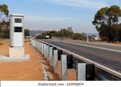 A new speed camera installed along the Great Eastern Highway in rural Western Australia, the camera set to detect vehicles speeding, sending infringements to the drivers caught.
