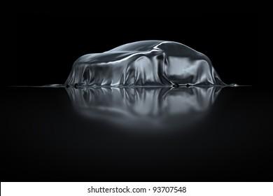 New Sports Car presentation silver fabric
