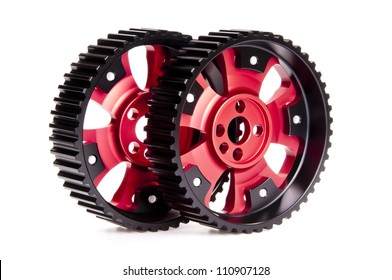 New sports pulleys for a camshaft