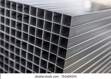 new square metal pipes in stock