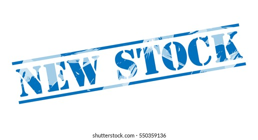 new stock blue stamp on white background