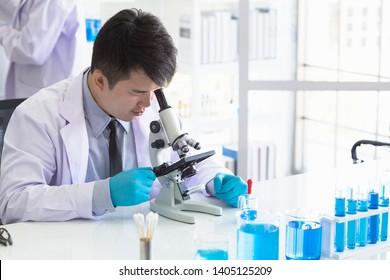 New stuff testing scientist in the lab