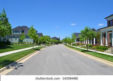 New Suburban American Neighborhood