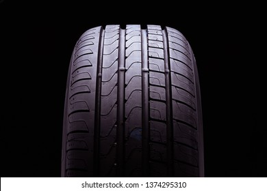 new summer tires on black background pirelli cinturato p7