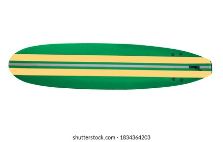 New Surfboard to look like vintage 60's70's board isolated on white