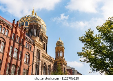 The New Synagogue is building in Berlin, Germany