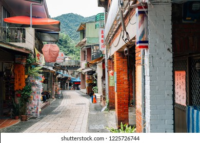 New Taipei City, Taiwan - April 30, 2018 : Old market street at Pingxi old town