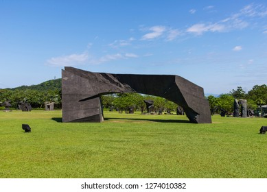 New Taipei City, Taiwan -April 28, 2017: The Juming Museum was officially established on September 19, 1999 by artist Zhu Ming (Juming). It is the largest outdoor art museum in Taiwan.