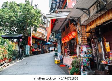 New Taipei City, Taiwan - April 30, 2018 : Shifen old town of Pingxi line