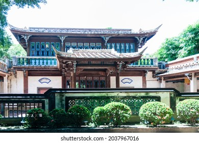 NEW TAIPEI CITY, TAIWAN - JULY 28 2012: Lin Family Mansion and Garden. Lin pei family garden is a traditional Chinese house in Taiwan