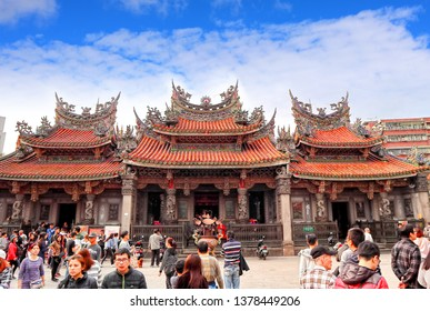 New Taipei City,Taiwan - April,6th,2019 :  The Qingshui Zushi temple at Sanxia Old Street