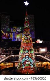 New Taipei City,Taiwan - November 25th , 2017 : Christmas tree at Christmasland in New Taipei City in Taiwan.