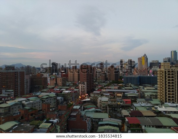 New Taipei City,Taiwan-09/23/2020:overlooking downtown Banqiao in the evening