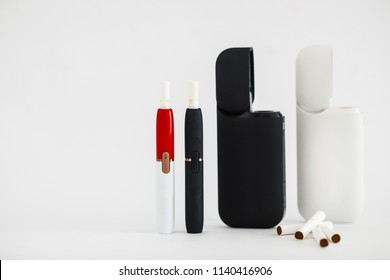 New technology of electronic cigarettes system. Electronic cigarettes, technology cigarette, electronic cigarette. Tobacco system IQOS.