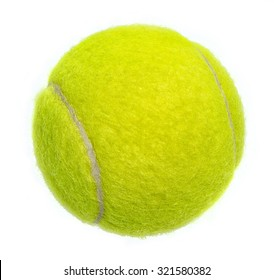 New tennis ball isolated on white background