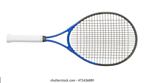New Tennis Racket Isolated on White Background.