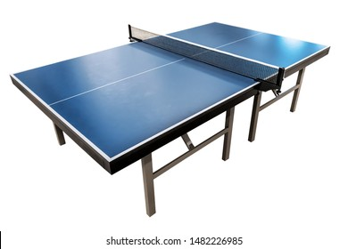 new tennis table (ping-pong) isolated on white