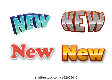 New Text for Title or Headline. In 3D Fancy Fun and Futuristic style