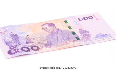 New Thailand banknote for the precious memories of King Rama IX. Thailand launch the last special Thai banknote with King Rama 9 image. 500 Baht