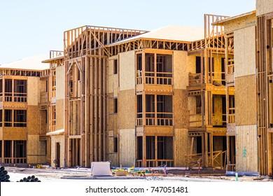 New Three Story Apartment Construction