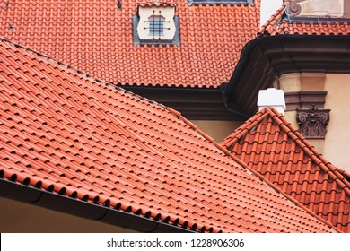 new tile roofs of old houses